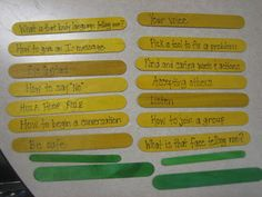 Entirely Elementary...School Counseling Purchase or make a Mcdonalds or other fast food chain cup On the yellow popsicle sticks (the Friendch Fries), write general statements/rules for having quality friendships. On the green sticks, the students will assist in writing behaviors that might turn a potential friend away.