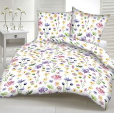 Obliečky bavlnené Poľné kvety biele TiaHome — Tia Home Comforters, Duvet Covers, Blanket, Bed, Montessori, Furniture, Home Decor, Creature Comforts, Quilts
