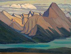 The Lawren Harris work Mt Sampson Maligne Lake Mountain Sketch CVI was one of the highlights of the Joyner Waddington spring auction of Canadian art, selling for $212,400 in Toronto on Monday. (Joyner)
