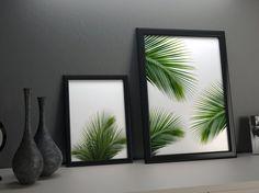 Tropical decor green palm art palm art palm leaves by CocoLarson