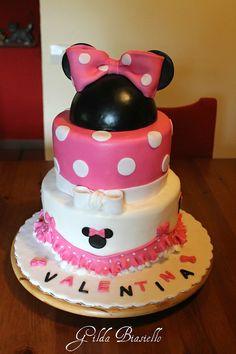 Torta Baby Minnie per 1 anno bambina
