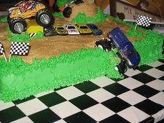 Monster truck cake design idea