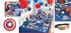 the avengers birthday party - calling all crime-fighting heroes! there's serious fun to be had, and it takes a united front to party like this. get all the super-cool decorations, tableware and hero stuff to throw an action-packed party for them. avengers, assemble!