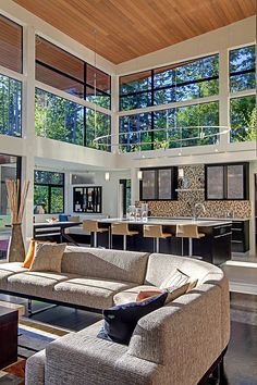 Forest House is a contemporary family home designed by McClellan Architects, situated in Seattle, Washington