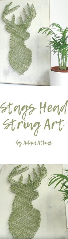 Stags Head String Art. Video tutorial by the brilliant adam Atkins shows you how to make wonderful string art. #Stag #StagsHead #String #Art #StringArt #DIY #Tutorial #Guide #HowTo