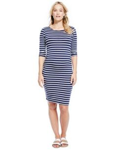 Maternity Striped Shift Dress With Modal | M&S