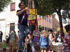 'Urban Knitting', tejer solidaridad y tiempo para reivindicar otras ciudades