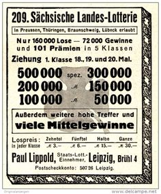 Original-Werbung/Anzeige 1936 - SÄCHSISCHE LANDESLOTTERIE - ca. 65 x 75 mm