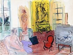 View L'atelier de Perpignan, Place Arago (Circa By Raoul Dufy; gouache on paper; 20 x 26 in. Access more artwork lots and estimated & realized auction prices on MutualArt. Gouache, Raoul Dufy, Willem De Kooning, Collor, Museum Of Contemporary Art, Art Graphique, Henri Matisse, French Art, Figure Painting