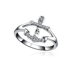 Delta Gamma Anchor Silver Ring