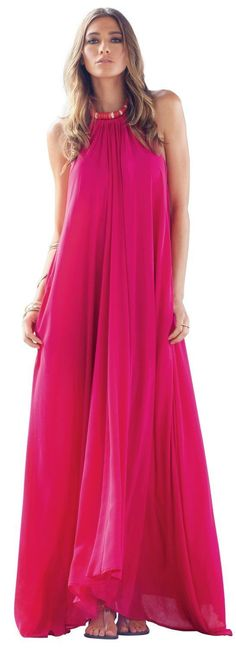 WOW!!!! The It Dress - Flowy Maxi Halter As seen In Vogue and on Good Morning America... Has that Halston Heritage look. http://www.allyandashley.com/itdrflmaha.html