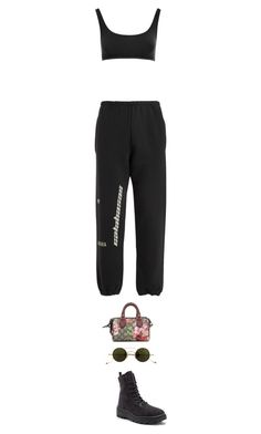 """""""yeezy banger // LA"""" by styledbymutiara ❤ liked on Polyvore featuring Yeezy by Kanye West, Gucci and Jacques Marie Mage"""