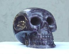 The Amethyst Skull is made of purple quartz, discovered in Mexico in the early 1900s. It is inexplicably cut against the axis of the crystal, as are the other mysterious crystal skulls that have been found.