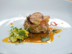 As seen on Beat Bobby Flay: Crab Cakes with Mango-Avocado Relish and Sour Orange Sauce