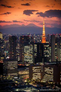 Tokyo Tower in Tokyo, Japan.