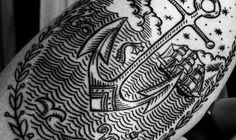 Nice detail tattoo on the forearm. The lines are simple but the piece really stands out. Comments comments Related posts: Cool Boat Cleat Tattoo Cool Gear Vertabrae Tattoo on Back Legendary Fire Phoenix Back Tattoo Cool Anchor Tattoo on Hand Neue Tattoos, Bild Tattoos, Body Art Tattoos, Cool Tattoos, Amazing Tattoos, Sleeve Tattoos, Freak Tattoo, Tattoo On, Tattoo Pics