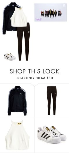 """""""Seventeen Boom boom inspired outfit"""" by baekyeoltaekook on Polyvore featuring adidas Originals"""