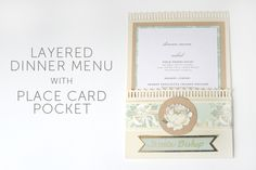 DIY Place card and Wedding Menu Design using Anna Griffin and Xyron Products