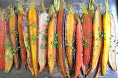 Oven roasted rainbow carrots with orange glaze - a dreat addition to your paleo diet
