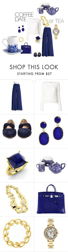 """Coffee or Tea date 2"" by meesh57 on Polyvore featuring Ralph Lauren, Lanvin, Gabriela Hearst, Dabakarov, Diamondere, Burleigh, Roberto Coin, Hermès, David Webb and Cartier"
