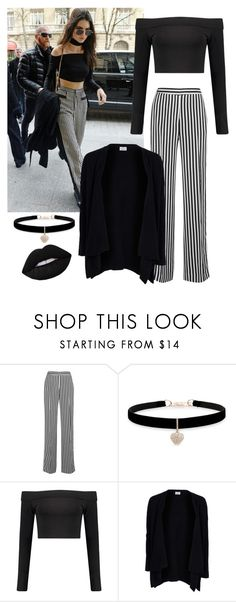 """""""Striped pants"""" by sophie01234 ❤ liked on Polyvore featuring Victoria, Victoria Beckham, Betsey Johnson, Boohoo, Allude and Lime Crime"""
