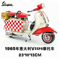 exemption from postage Handmade iron antique finishing retro vespa motorcycle model small sheep birthday gift home accessories