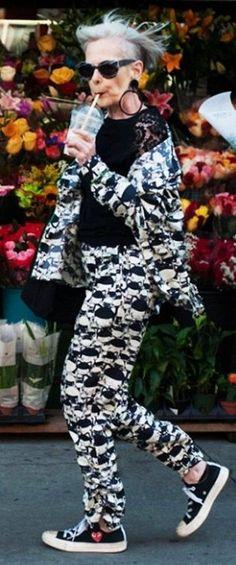 Lyn Slater of Accidental Icon wearing Yamamoto.
