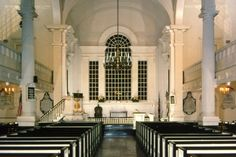 Christ Church, Philadelphia... where you can sit in Ben Franklin's pew!