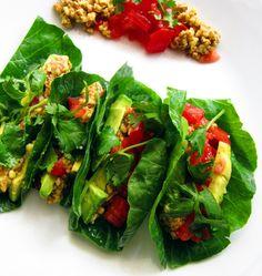 Raw Vegan Tacos-less avocado.