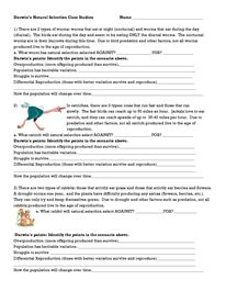 Darwins-Natural-Selection-Worksheet | EVOLUTION | Pinterest