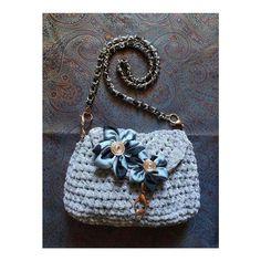 Crochet bag flower IRIDESIGNS