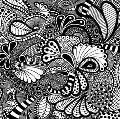 patron dibuji zentangle creatividad emditacion