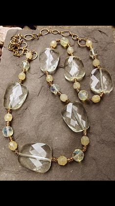 Necklace (looks like quartz and maybe citrine; I wish people would upload more info when they pin).