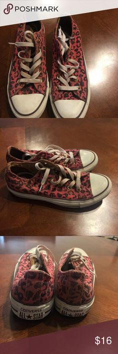 Converse sneakers Women's cheetah converse sneakers size 6 Converse Shoes Sneakers
