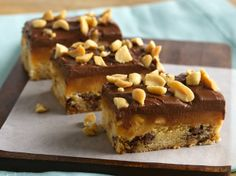 Do you love candy bars? Try this cookie bar, and you'll have 3 dozen delightful indulgences that are like candy bars.