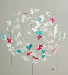 White Butterfly Mobiles Children Art for Children Bedroom Decor Butterflies - Modern Nursery Art, Girl Nursery, Nursery Decor, Bedroom Decor, Nursery Mobiles, Baby Mobiles, Nursery Ideas, Room Ideas, Butterfly Nursery