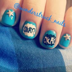 The Fault In Our Stars nail art #tfios #nailart