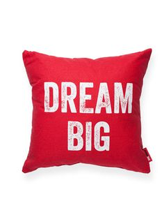 Dream Big Red Throw Pillow