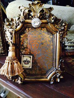Love placing tassels on the corner of frames!