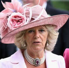 Pink hat for Camilla