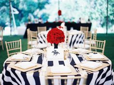bold black and white striped linens | Michelle Boyd