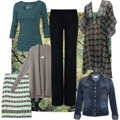 Casual Dressing Over 50: Six Easy Pieces by flattering50, via Polyvore