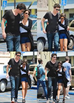 Cory Monteith and Lea Michele on a lunch date at Canter's Deli <3 #monchele