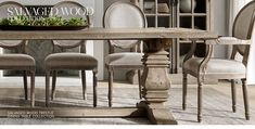 The Salvaged Wood Collection Dining Chairs, Dining Room, Dining Table, Glass Sideboard, Salvaged Wood, White Wood, Restoration Hardware, Service Design, Home Furnishings