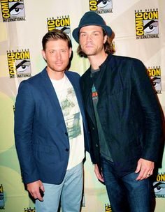 Jensen Ackles and Jared Padalecki attend CW's 'Supernatural' Panel during Comic-Con International 2014 at San Diego Convention Center on July 27, 2014