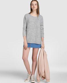 Jersey de mujer Vila de manga largo y cuello redondo 30% lana