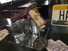 Close up of Joker's gun from Suicide Squad