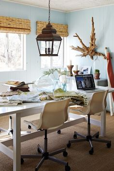 beach style home office designs