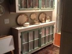 Lower Cabinet made from old windows
