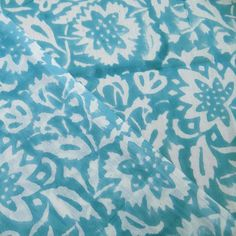 Sold By Yard Hand Printed Soft Cotton Voile by handprintedshop